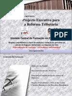 Formação de contabilidade sobre os custos em IRT e II