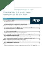 regolamento ammissione studenti con titolo estero uni roma 3