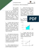 Lista AV2 - Termodinamica