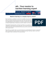 Learning Path Machine Learning