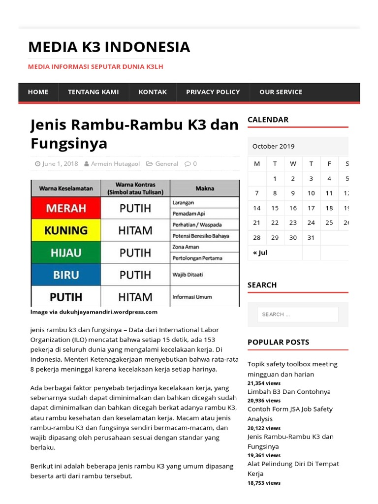 Jenis Rambu Rambu K3 Dan Fungsinya Media K3 Indonesia