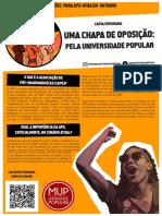 Carta - Por Que Uma Chapa de Oposição