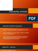 Anonymity Revision