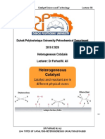 l04-Types of Catalysis-heterogeneous Catalysis-2019-2020.PDF · Version 14868242028572376878