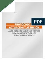 Protocolo de Actuación y Atención Ante Casos de Violencia Contra Niñas y Adolescentes en Espacios Educativos