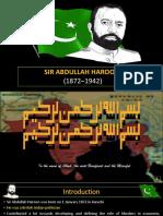 Sir Abdullah haroon