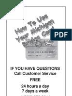 Michigan Electronic Benefit Transfer Bridge Card