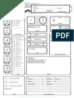 Character Sheet Sorcerer