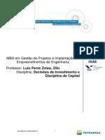 Decisões de Investimento e Disciplina de Capital - Luis Perez Zotes