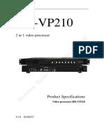 MANUAL PROCESADORA HD PARA PANTALLAS LED VP210
