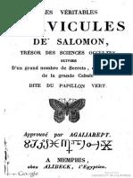 1860 Anonymous Veritables Clavicules de Salomon