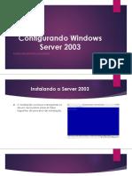 Configurando Windows Server 2003