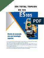 Manejo de estacion total topcon ES 105
