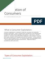 Exploitation of Consumers