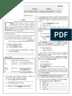 Atividade 9 - 7º Ano - Análise Linguística