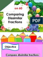 Math3 Q3 Aralin 60 Comparing Dissimilar Fractions (2)