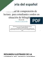 Actividad de comprensión de lectura (Nivel B1 para estudiantes sordos de español como segunda lengua).