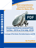 Most Comprehensive Economics Current Affairs for Mains 2019 by Prepmate