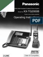 Panasonic KXTG2000B Manual