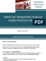 Eliana Bittencourt - Tarifa Como Politica Publica