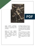 Oracion a San Miguel Arcangel y a San José. Latin Español