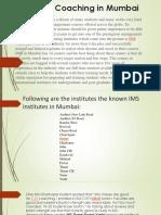 Top Ims Institute in Mumba