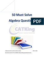 50 algebra question for cat