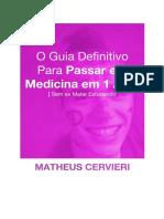 Guia de estudos para medicina