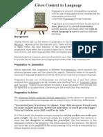 Pragmatics Gives Context to Language.docx
