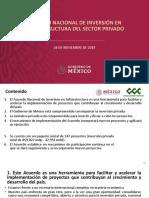 Acuerdo Nacional de Inversión en Infraestructura, 26nov19