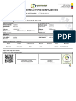Certificado movilización