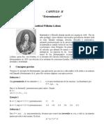 Algebra lineal (Tema #2 DETERMINANTES)