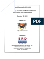 Response to Nutrient Source Evaluation Assessment Services RFP by Environmental Research and Design Inc - City of Marco Island