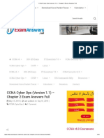 CCNA Cyber Ops (Version 1.1) - Chapter 2 Exam Answers Full