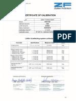 Certificado Calibración #1039 Leica Hds 6100