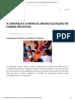 A Criança e a Música_ Musicalização de Forma Intuitiva