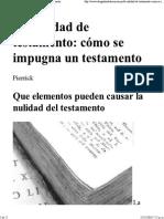 Nulidad Del Testamento