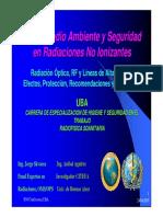 Salud, medio Ambiente y Seguridad en Radiaciones no Ionizantes