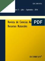 Revista de Ciencias Ambientales y Recursos Naturales V2 N5