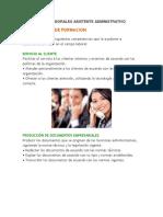 Competencia Laborales Asistente Administrativo