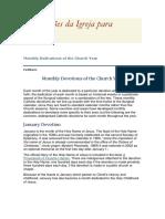 As devoções da Igreja em cada dia do ano
