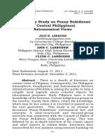 Preliminary Study on Panay Bukidnons