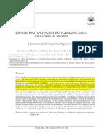 Artigo Lipossomas