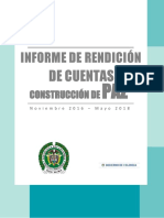 Informe de Rendición de Cuentas de Construcción de Paz