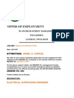 OFFER OF EMPLOYMENT REMIER OIL UK
