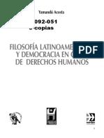 ACOSTA Filosofia Latinoamericana.