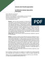 David hume y la distinción entre filosofía especulativa y experimental  - Dianoia 2018.pdf