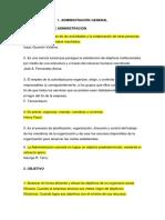 Cadm Administración General Introduccion