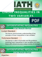 Differentiating Linear Equality From Linear Inequality
