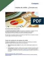 Mantención de tarjetas de crédito